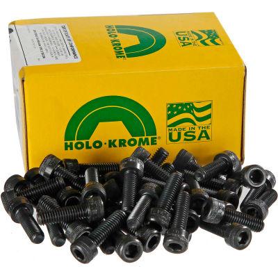 """8-32 x 3/8"""" Socket Cap Screw - Steel - Black Oxide - UNC - Pkg of 100 - USA - Holo-Krome 72054"""