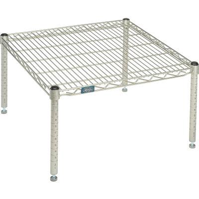 """Standard Wire Shelf Platform, Poly-Z-Brite, 24""""W x 24""""L x 14""""H"""