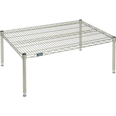 """Standard Wire Shelf Platform, Poly-Z-Brite, 24""""W x 36""""L x 14""""H"""