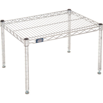 "Nexel® Chrome Wire Dunnage Rack - 24""W x 18""D x 14""H"