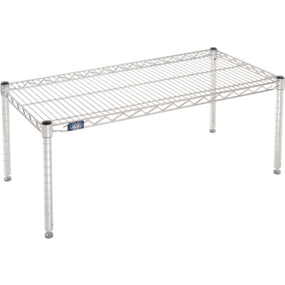 "Nexel® Chrome Wire Dunnage Rack - 36""W x 18""D x 14""H"