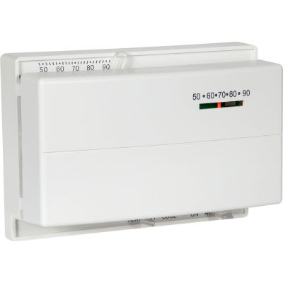 LUX Low Voltage Mechanical Non-Programmable Thermostat PSM400SA - 1 Stage Heat 1 Cool 24 VAC