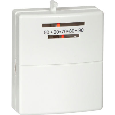 LUX Low Voltage Mechanical Non-Programmable Thermostat PSM30SA - 1 Stage Heat 24 VAC