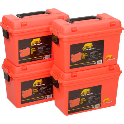 "Plano Molding 161250 Emergency Supply Box 15""L x 8""W x 10""H, Orange - Pkg Qty 4"