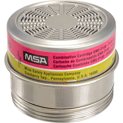 MSA Comfo® Combo Cartridges, Multi -Gas, GME-P100, 6/Pk, 815182
