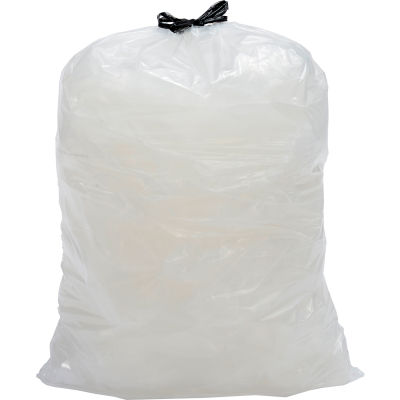 Draw-Tuff® Industrial Drawstring Trash Bags, 23 Gal Slim Jim, Natural, 1.0 Mil, 150/Case