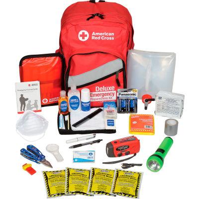 American Red Cross 91052 Emergency Preparedness Backpack, Red Cross, Deluxe