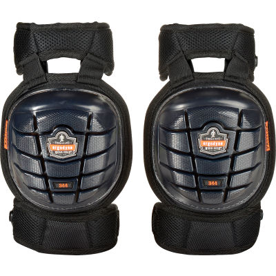 Ergodyne® ProFlex® 344 Injected Gel Knee Pads w/ Comfort Straps, Short Cap, Black, 18444