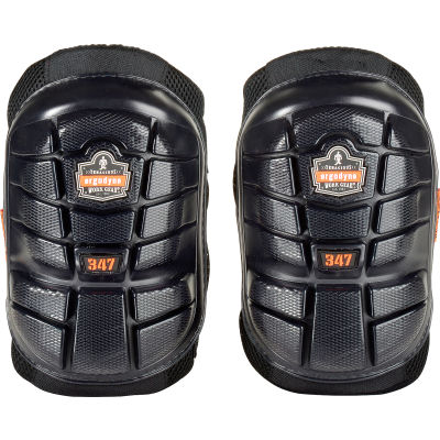 Ergodyne® ProFlex® 347 Lightweight Gel Knee Pads, Long Cap, Black, 18447