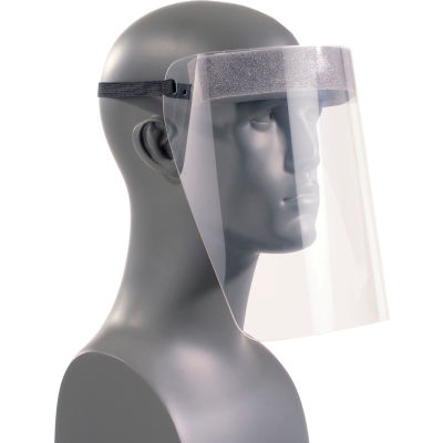 Paulson Infectious Disease Control Face Shield with Elastic Strap and Foam Cushion, 5 Pack, IDC/F
