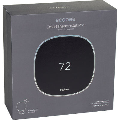 Ecobee EB-STATE5P-01 Smart Thermostat Pro with Voice Control & Sensor