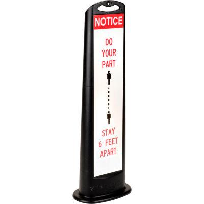 "Cortina Trailblazer 03-768BLK-MSD Vertical Panel, Black, 45"", XL, ""Do Your Part – Stay 6 Feet Apart"""