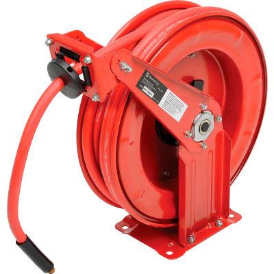 "Florida Pneumatic 6801 3/8""x50' 300 PSI Spring Retractable Low Pressure Steel Hose Reel"