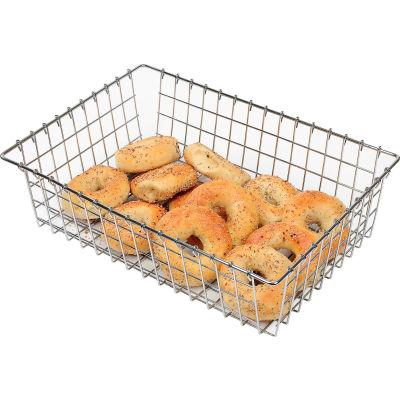 "Winholt WBB1319 - Bagel, Bread and Bun Wire Basket, Level Top, 13-3/4""W - Pkg Qty 2"
