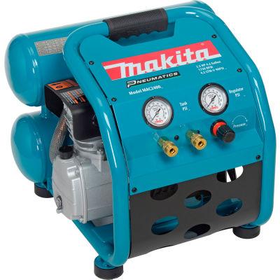 Makita® MAC2400, Portable Electric Air Compressor, 2.5 HP, 4.2 Gallon, Twin Stack, 4.2 CFM