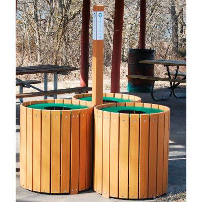 Recycling Center - Resinwood Slats Cedar 96 Gallon