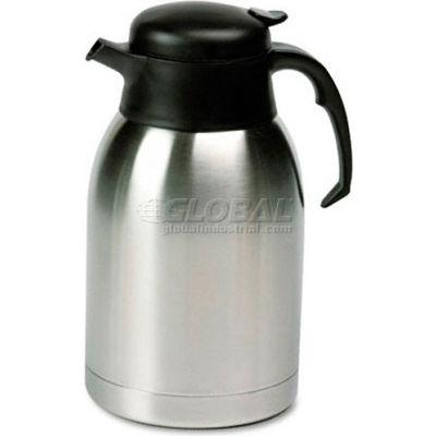 Stainless Steel Lined Vacuum Carafe, 1.9 Liter, Satin Finish/Black Trim