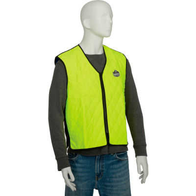 Ergodyne® Chill-Its® 6665 Evaporative Cooling Vest, Lime, Large