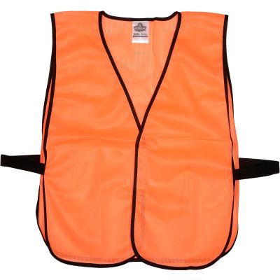 Ergodyne® GloWear® 8010HL Non-Certified Economy Vest, Orange, One Size