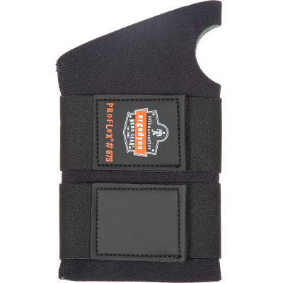 Ergodyne® ProFlex® 675 Ambidextrous Double Strap Wrist Support, Black, Medium
