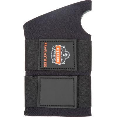 Ergodyne® ProFlex® 675 Ambidextrous Double Strap Wrist Support, Black, Large