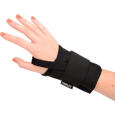 Ergodyne® ProFlex® 4000 Single Strap Wrist Support, Black, Medium, Right