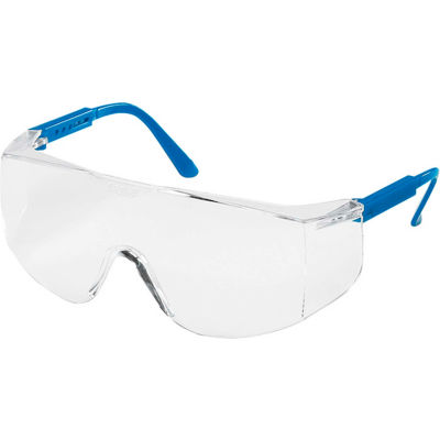 MCR Safety TC120 Tacoma® Safety Glasses, Blue Temples, Clear Lens