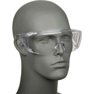 MCR Safety 9800B Crews Yukon® Safety Glasses, Clear Lens, Clear Frame, Anti-Scratch, 12/Box