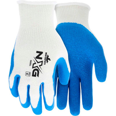 Premium Latex Coated String Gloves, Memphis Glove 9680L, 1-Pair - Pkg Qty 12