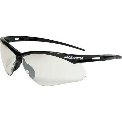 Jackson Safety SG Safety Glasses Black Frame Indoor-Outdoor Mirror Anti-Scratch