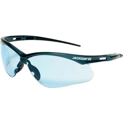 Jacskson Safety SG Safety Glasses Blue Frame Light Blue Lens Anti-Scratch