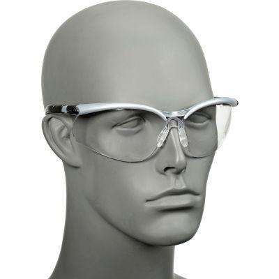 3M™ BX™ Reader Protective Eyewear, 11375-00000-20, Clear Lens, Silver Frame, +2.0