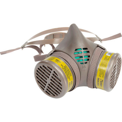 Moldex 8602 8000 Series Multi-Gas/Vapor Smart® Cartridge Assembled Respirator, Medium, 1/Pack