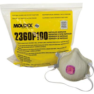 Moldex 2360P100 2360 Series P100 Particulate Respirators,Ventex® Valve, M/L, 5/Bag