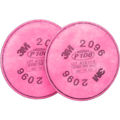 3M™ Particulate Filter, P100,w/Acid Gas Relief, 2096, Pkg of 2