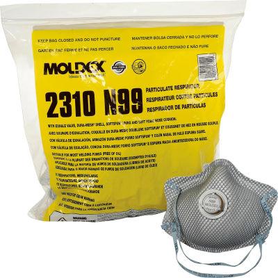 Moldex 2310 2310 N99 Premium Particulate Respirators, Exhalation Valve, M/L, 10/Bag