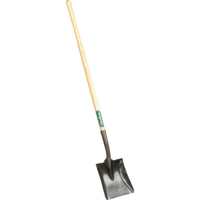 """Union Tools® 40184 9-1/2"""" 44"""" Wood Handle Square Point Digging Shovel W/ Forward Turned Step"""