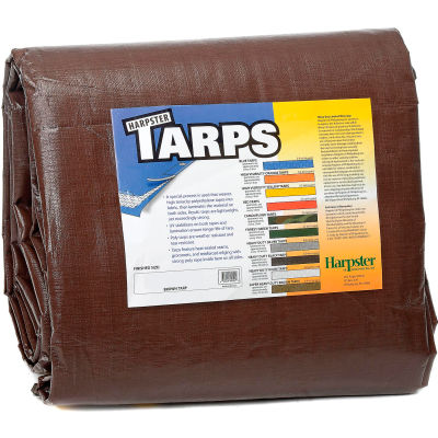 4' x 20' Super Heavy Duty 8 oz. Tarp Brown - BR4x20