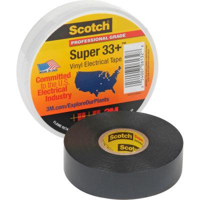"""3m™ Scotch® Super 33+™ Vinyl Electrical Tape, 3/4"""" X 66', Black"""