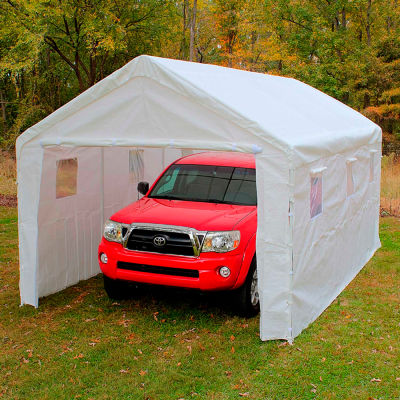 """Universal™ Enclosed Canopy With Windows 20'L x 10'8""""W - White"""