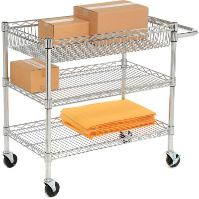 Luxor® LICWT2918 Heavy Duty Wire Transport Cart - 30x18x30