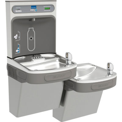 Elkay LZSTL8WSVRLK Water Refilling Station, Wall Mount, Bi-Level, Light Gray