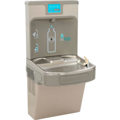 Elkay EZH2O Enhanced Wall Mounted Filtered Water Bottle Refilling Station, Light Gray
