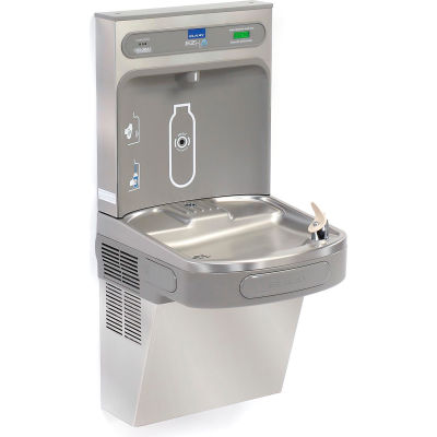 Elkay EZH2O LZS8WSSK Water Bottle Refilling Station W/Filter, Stainless Steel