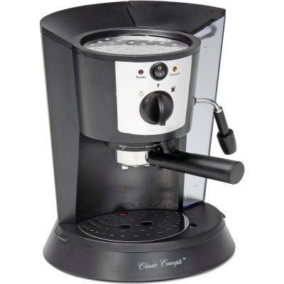 Classic Coffee Concepts CC1812 - Espresso Machine, 1 or 2 Cup, Black, Pour-Over