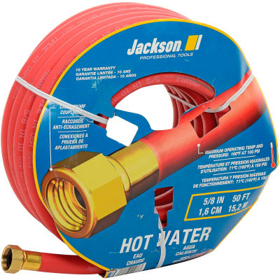 """Jackson® 4008600A Professional Tools 5/8"""" X 50' Hot Water Rubber Garden Hose"""