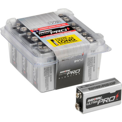 Rayovac® Alkaline Ultra Pro™ 9V 12  Battery Contractor Pack - Pkg Qty 12