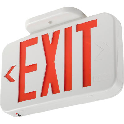 Lithonia EXR LED EL M6 Red LED Exit W/ Battery Back-Up