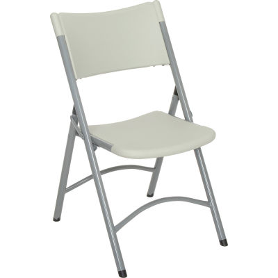 Interion® Folding Chair - Blow Molded Resin - Gray - Pkg Qty 4