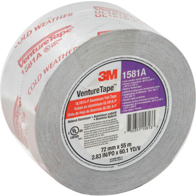 3M™ VentureTape UL181A-P Foil Tape, 3 IN x 60 Yards, 1581-G076